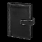 Zeitplaner Pocket - Softfolie schwarz mit weißer Naht
