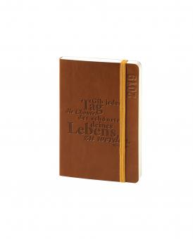 V-Book Buchkalender A6 - Softcover - braun mit Spruch