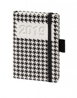 V-Book Buchkalender A6 - Hardcover - Hahnentritt