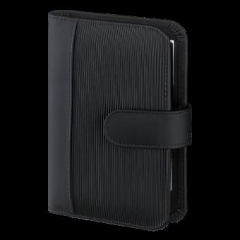 Terminplaner Pocket - Rillen-Design schwarz