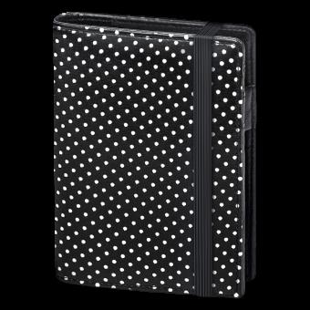 Terminplaner Pocket - Softfolie Punkte schwarz-weiss