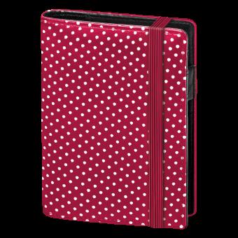 Terminplaner Pocket - Softfolie Punkte rot-weiss