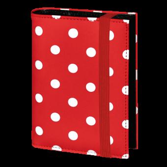 Terminplaner Pocket - Rot mit weißen Punkten