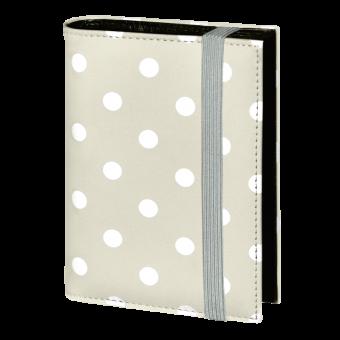 Terminplaner Pocket - Grau mit weißen Punkten