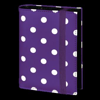Terminplaner Pocket - Violett mit weißen Punkten