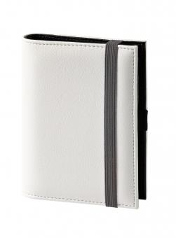 Terminplaner Pocket - Softfolie weiß mit grauem Band