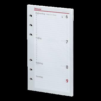 Kompakt A6 Kalendarium (1 Woche = 2 Seiten)