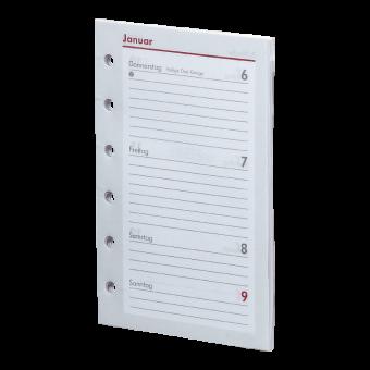 Pocket A7 Kalendarium (1 Woche = 2 Seiten)