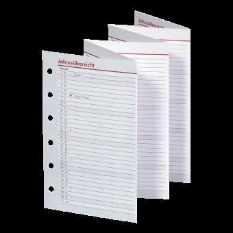 Pocket A7 Jahresübersicht Leporello