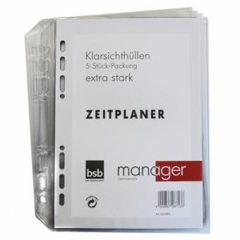Manager A5 Klarsichthüllen, 5 Stck.-Packung, oben offen