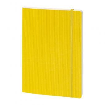 Softcover, geprägt, gelb