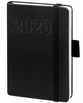 V-Book Buchkalender A5 mit Gummiband - schwarz