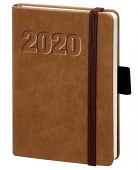 V-Book Buchkalender A5 mit Gummiband - braun