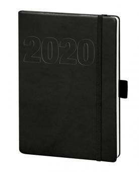 V-Book Buchkalender A6 mit Gummiband - schwarz
