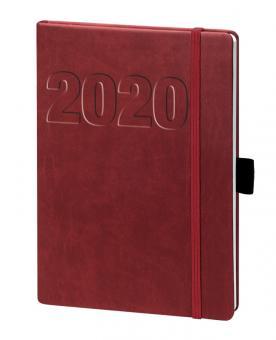V-Book Buchkalender A6 mit Gummiband - bordeaux