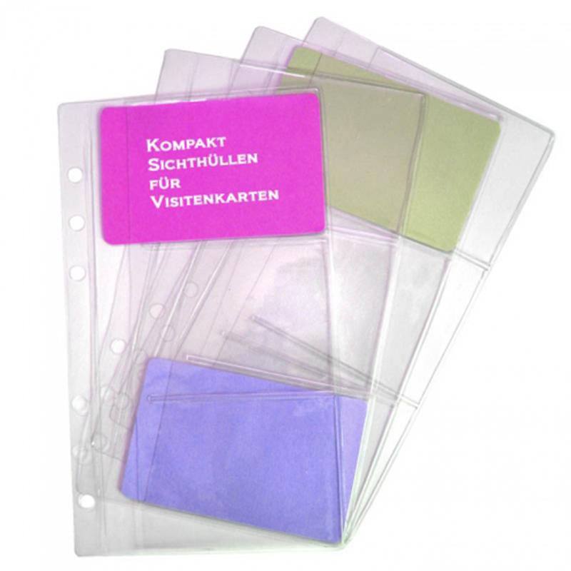 Kompakt A6 Sichthüllen 4 St Pack Für Visitenkarten